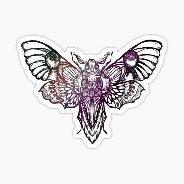 Succulent Hues Moth Sticker