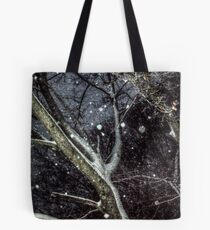 Trees In The SnowStorm Tote Bag