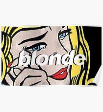 frank ocean - blonde pop art Poster