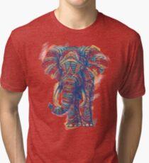 Ornate Elephant (Watercolor Version) Tri-blend T-Shirt