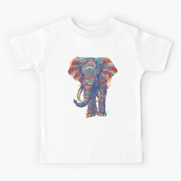 Ornate Elephant (Watercolor Version) Kids T-Shirt