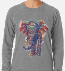 Sudadera ligera Elefante adornado (versión de acuarela)