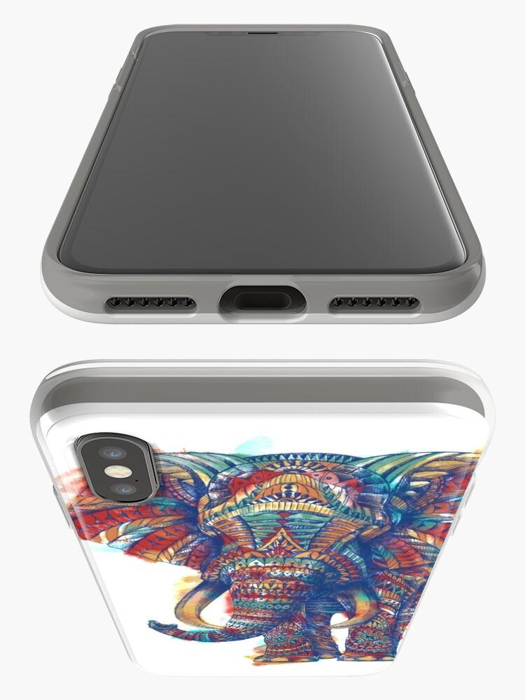 Alternative Ansicht von Verzierter Elefant (Aquarell Version) iPhone-Hülle & Cover