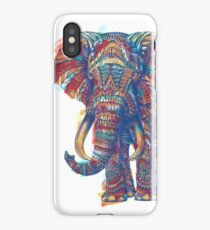 Ornate Elephant (Watercolor Version) iPhone Case/Skin