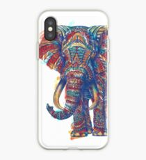 Verzierter Elefant (Aquarell Version) iPhone-Hülle & Cover