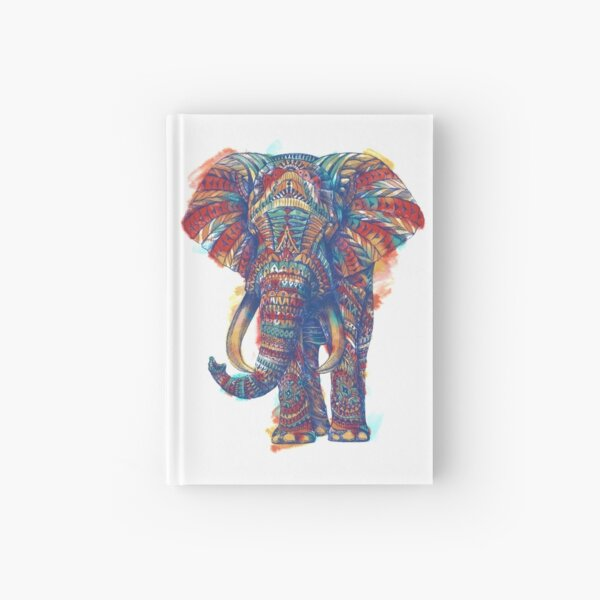 Ornate Elephant (Watercolor Version) Hardcover Journal