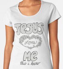 Jesus Loves Me Women's Premium T-Shirt