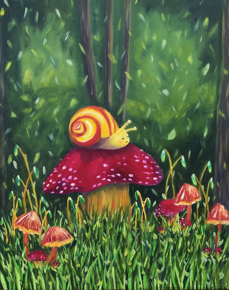 Happy snail by marianaseferin