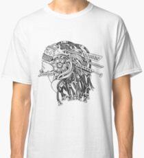 Industrial Steampunk Girl Galaxy Futuristic Classic T-Shirt