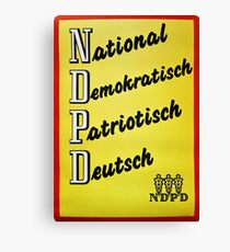 NDPD - National Democratic Party of Germany (East German Party till 1990)  Canvas Print