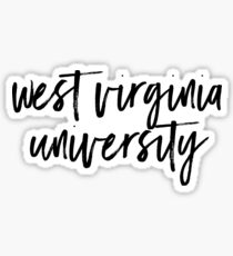 West Virginia University Sticker