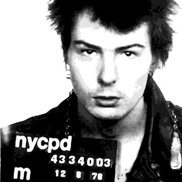 sid vicious mugshot fan art by NichePrints