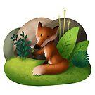 Fox 'Flower by skrich