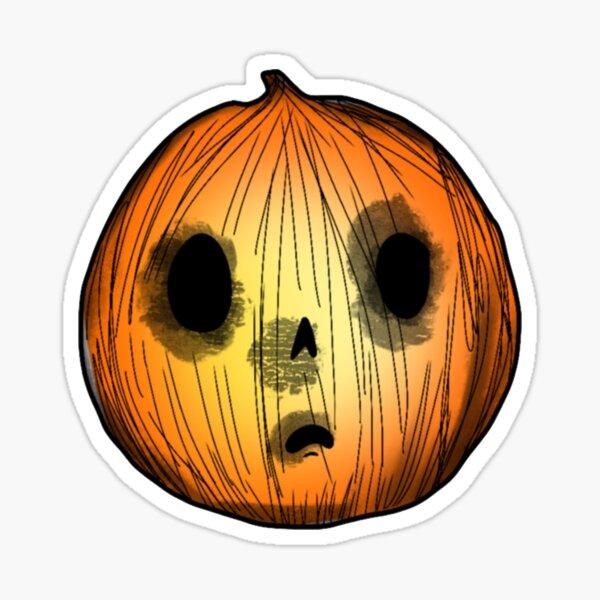 Creepy Cute Pumpkin Sticker