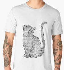 Newspaper cat nerdy book Men's Premium T-Shirt