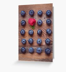 Blueberries and raspberry Greeting Card