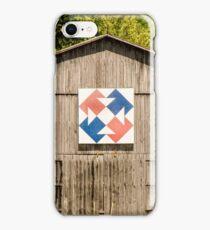 Kentucky Barn Quilt - Capital T iPhone Case/Skin