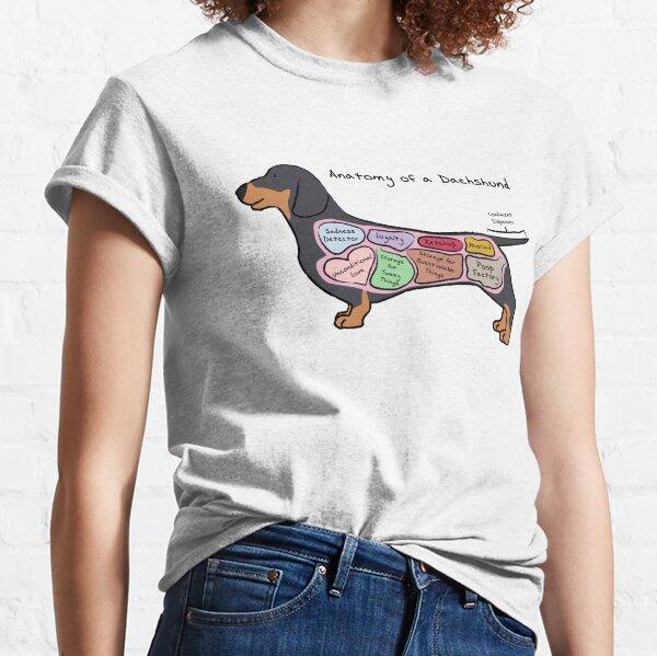 Anatomie eines Dackels Classic T-Shirt