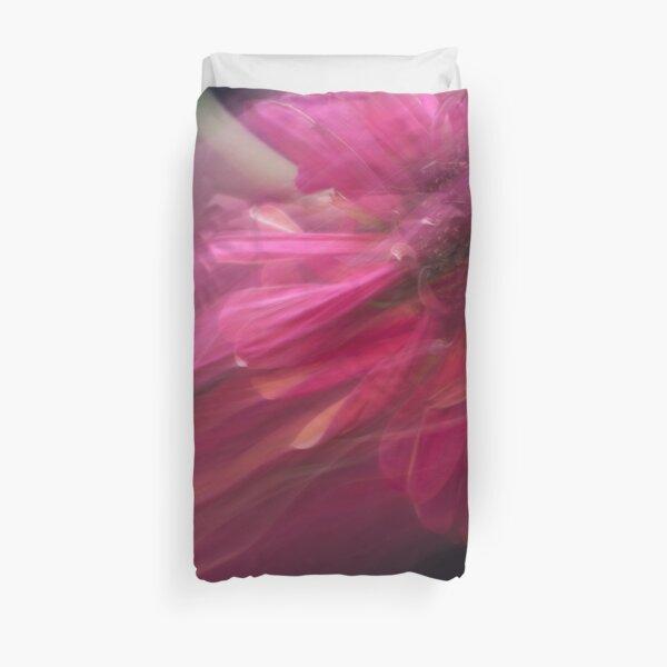 Fleur Blur-Abstract Pink Gerbera Daisy Duvet Cover