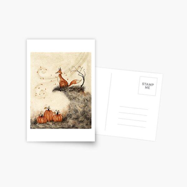Guarding the Pumpkin Patch Postcard