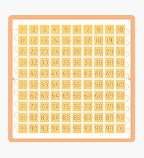 Hundred Square for Your Classroom Photographic Print