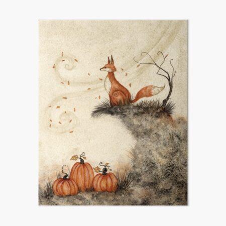 Guarding the Pumpkin Patch Art Board Print