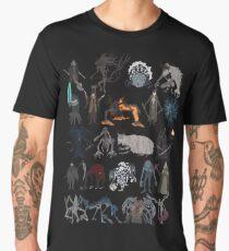 Camiseta premium para hombre Bloodborne bosses