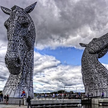 Kelpies under Rain Clouds by tomg