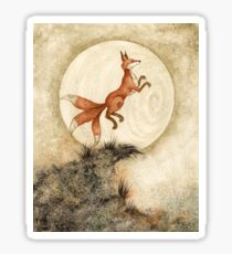 Leaping At The Moon Sticker