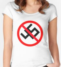 Donald Trump (Anti-Nazi) Women's Fitted Scoop T-Shirt