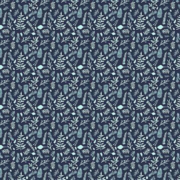 Woodland Nr. 3 - Azul claro en Indigo de MonJaro