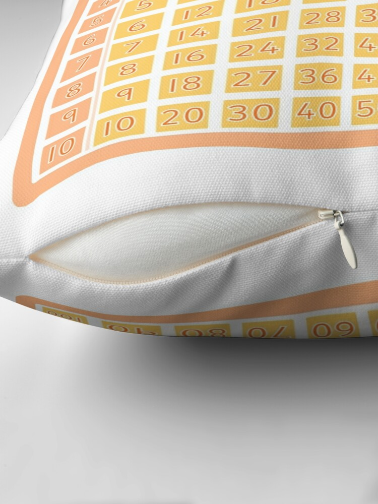 Alternate view of Multiplication Square for Your Classroom Throw Pillow