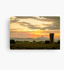 Rocky Mountain Front Range Country Landscape Canvas Print