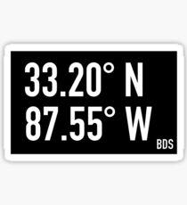 University of Alabama - Bryant Denny Stadium BDS Coordinates Sticker