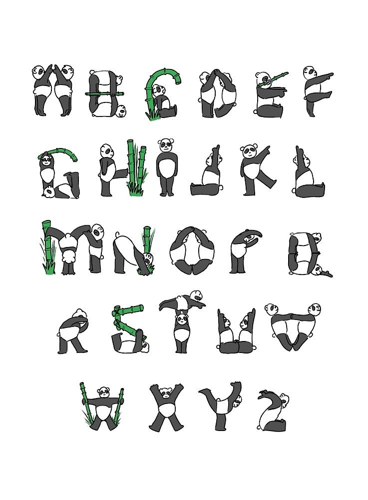 Panda Alphabet  by gibang