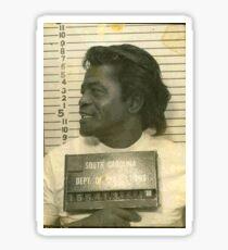 James Brown mugshot fan art Sticker