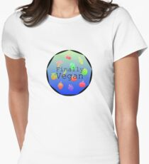 """Finally Vegan"" healthy lifestyle colourful slogan T-Shirt"