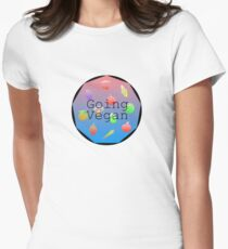 """Going Vegan"" healthy lifestyle colourful slogan T-Shirt"