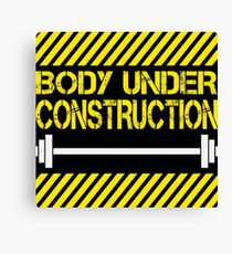 Body under construction Canvas Print