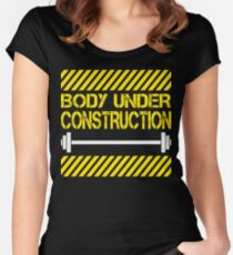 Body under construction Women's Fitted Scoop T-Shirt