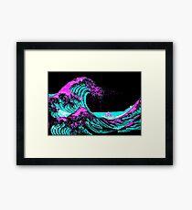Vapourwaves Japanese Digital Art Framed Print