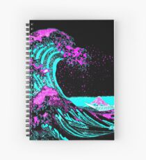 Vapourwaves Japanese Digital Art Spiral Notebook