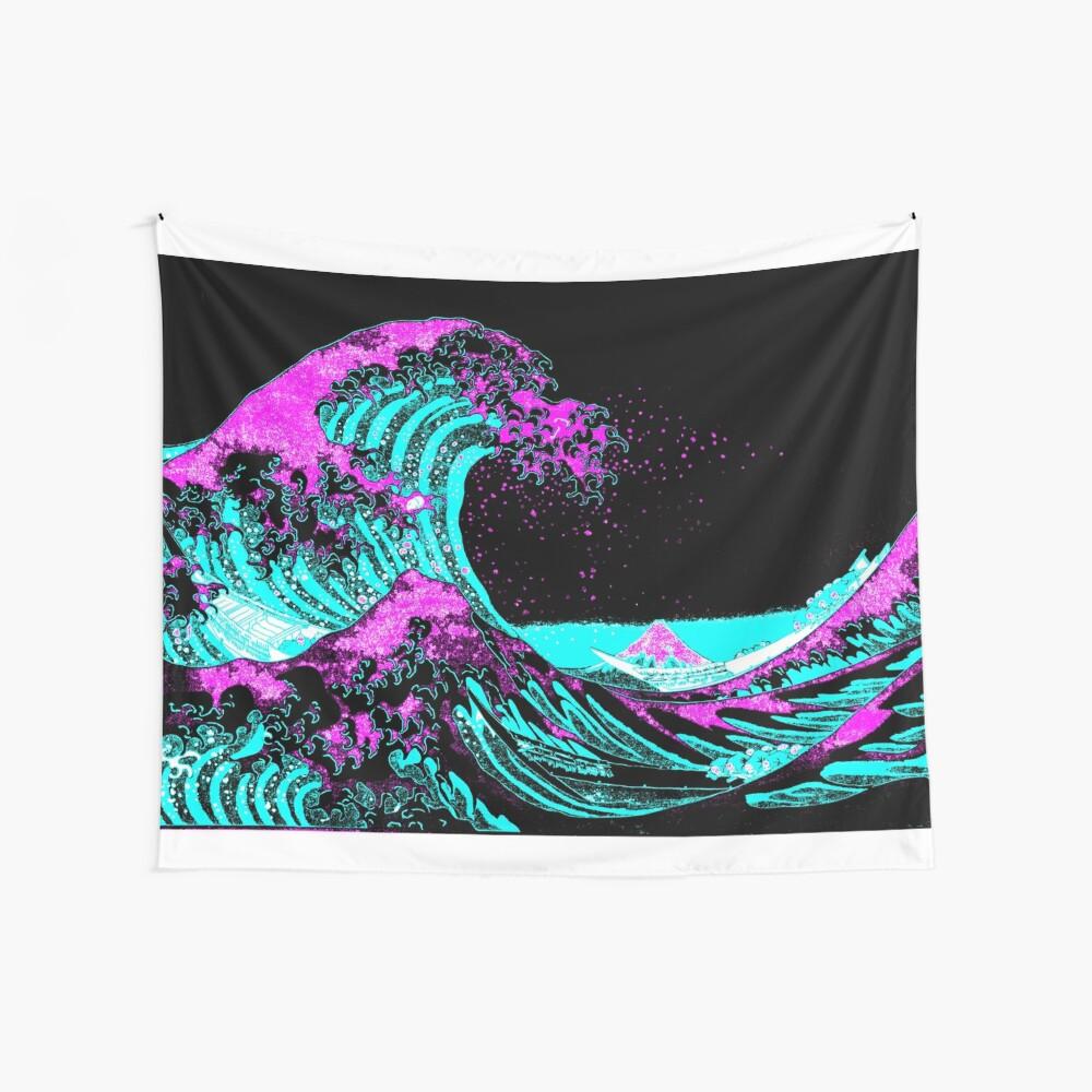 Vapourwaves japanische digitale Kunst Wandbehang