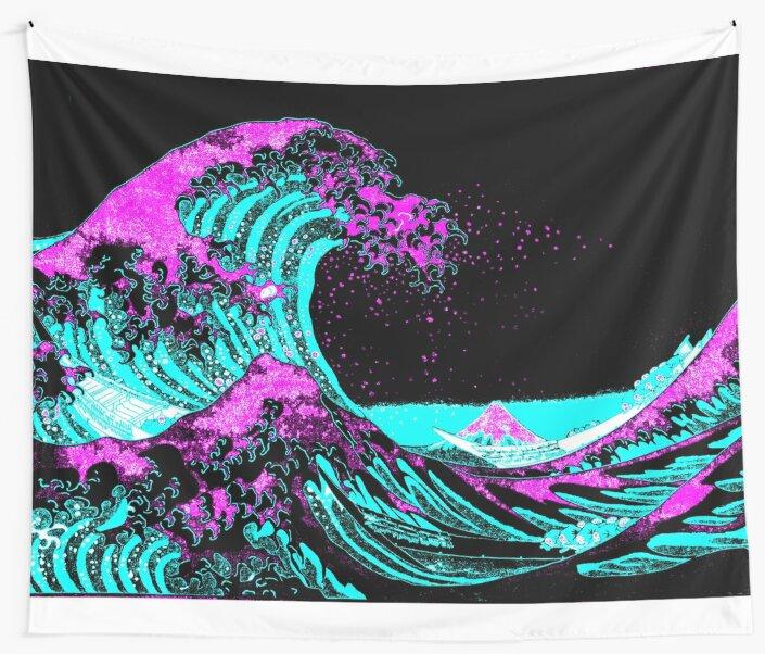Vapourwaves Japanese Digital Art by Zelius