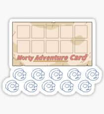 Rick and Morty – Blank Morty Adventure Card with Stickers Sticker