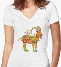 Ibex, from the AlphaPod collection Women's Fitted V-Neck T-Shirt