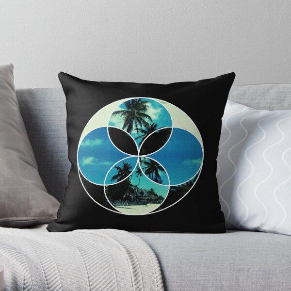 Displaced Beach Throw Pillow