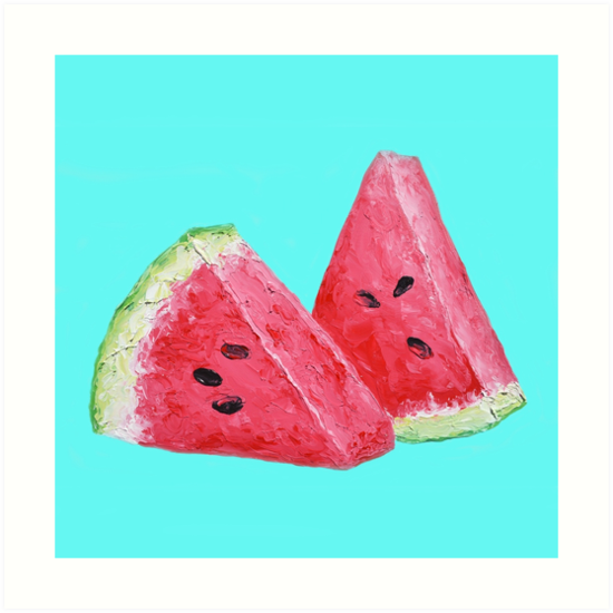 Luscious watermelon slices by MatsonArtDesign