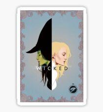 Wicked- Glinda and Elphaba Mirror  Sticker