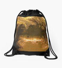 Travels While Sleeping V Drawstring Bag